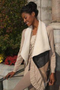 neutral colorblock jacket