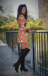 Vintage dress and high boots