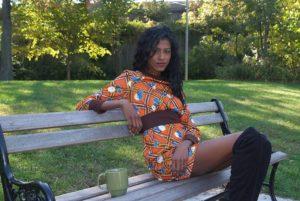 Vintage dress sitting