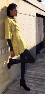 Vintage, green jacket, Zara Boots, Stylehopping, Angelica Guillen
