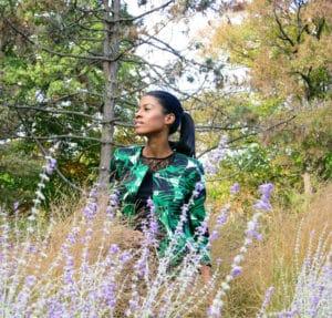 Print jacket, denim, park, angelica guillen
