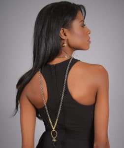 Black Dress, HM,Harper Hallam, jewelry, angelica guillen