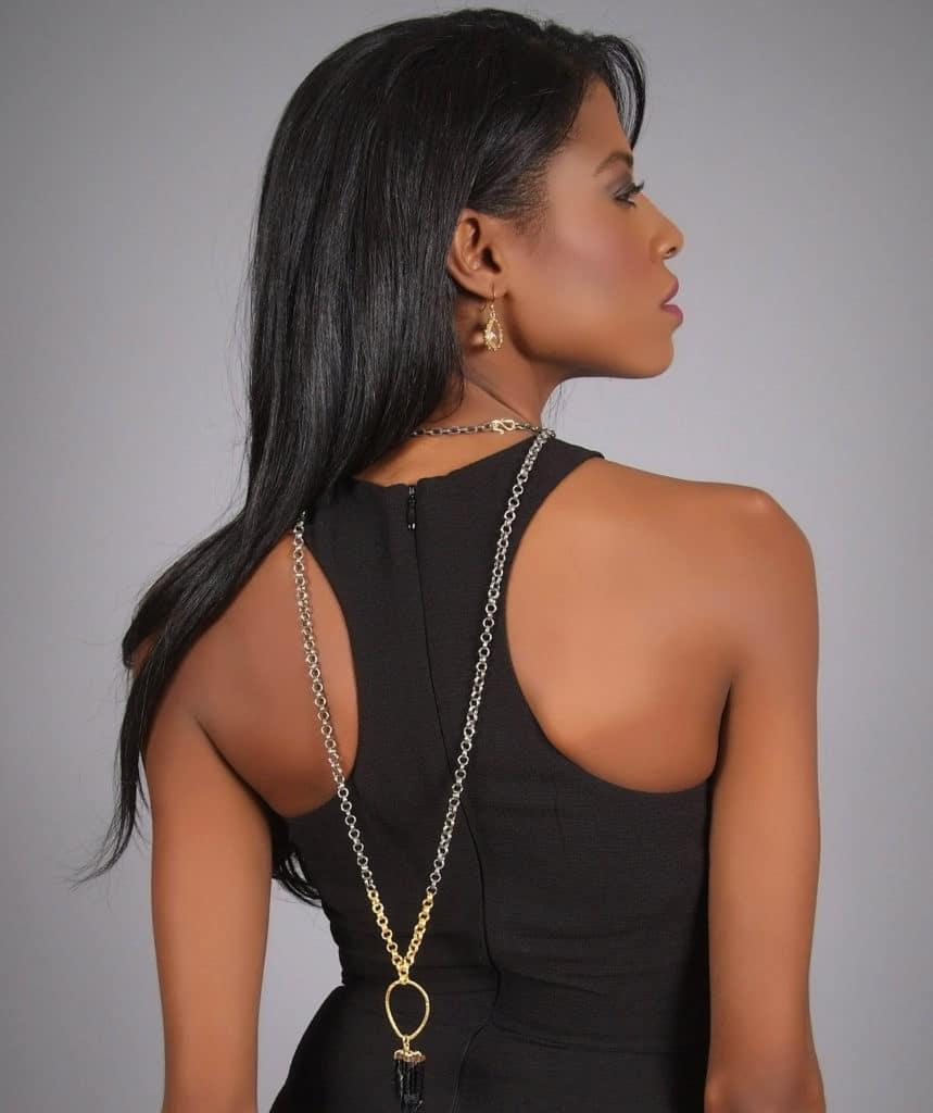Black Dress, HM,Harper Hallam, jewelry, angelica guillen