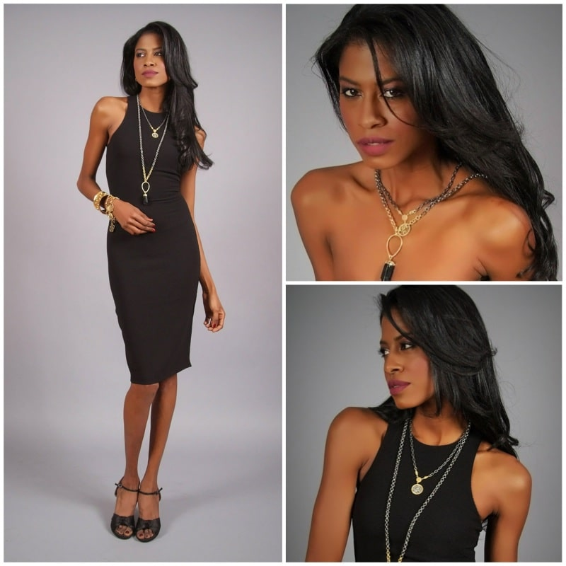 black dress, HM, Harper Hallam, jewelry, angelica guillen