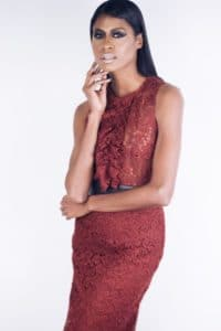 Zara, lace marsala