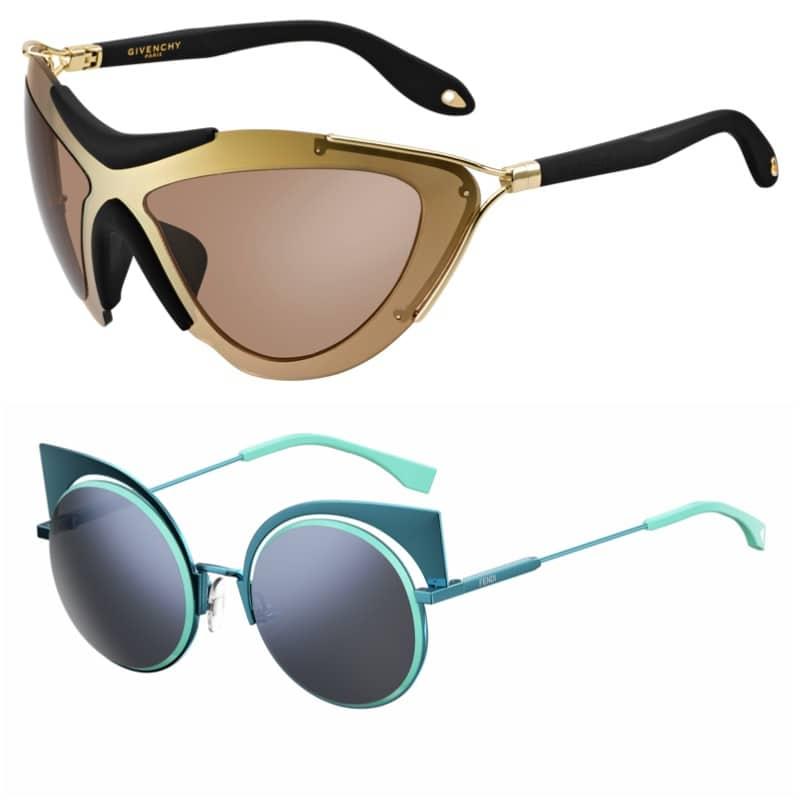 Givenchy, Fendi sunglasses