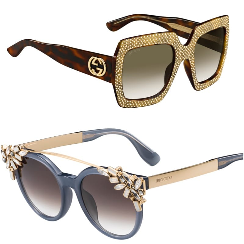 Gucci, Jimmy Choo sunglasses