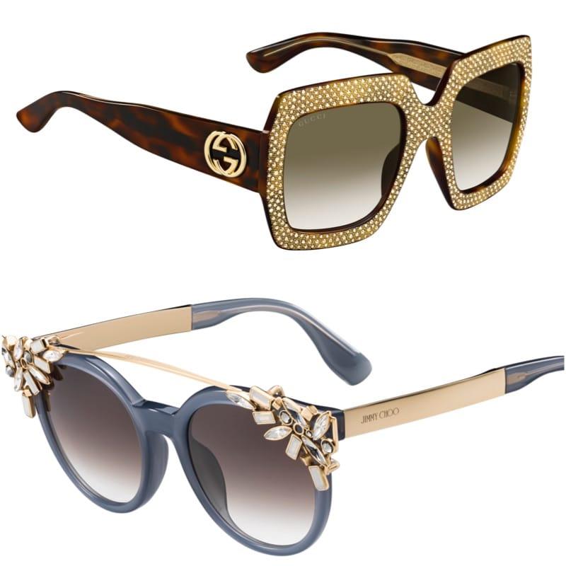 Gucci, Jimmy Choo sunglasses