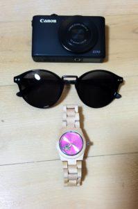 Converse Glasses, Canon Camera, Jord Watch