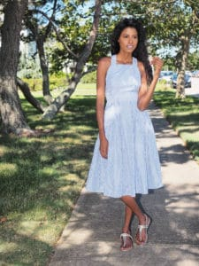 Shein Dress with sandals