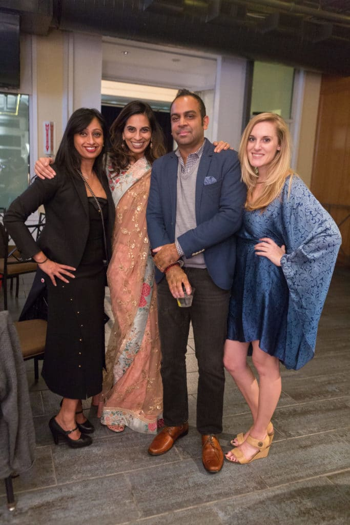 Teresa Bigelow, Nihal Mehta and Anu Duggal (Right to Left)