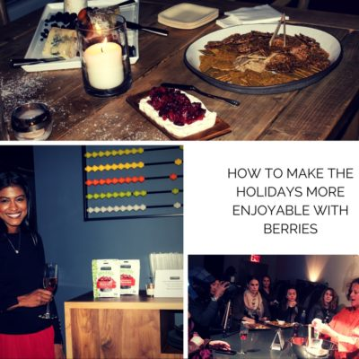 How to make the holidays more enjoyable with berries.