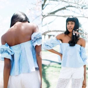 Off the shoulder top Back and front
