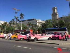 Cars and La Habana Bus Stop