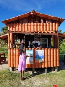 Piña Colada Stand at the beach in Cuba