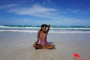 Smiling in Cuba Beach