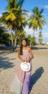 Chiara Maxi dress-holding hat