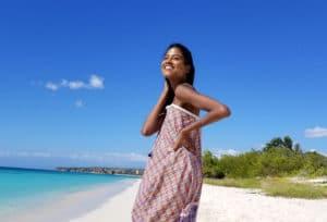 Chiara maxi dress bahia-half