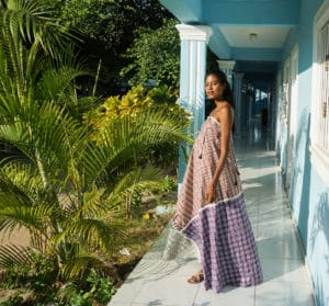 Chiara maxi dress- closer full hall