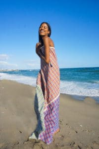 Chiara maxi dress full smiling