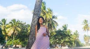 Chiara maxi dress half-coconut