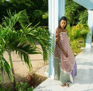 Chiara maxi dress-lookind down full