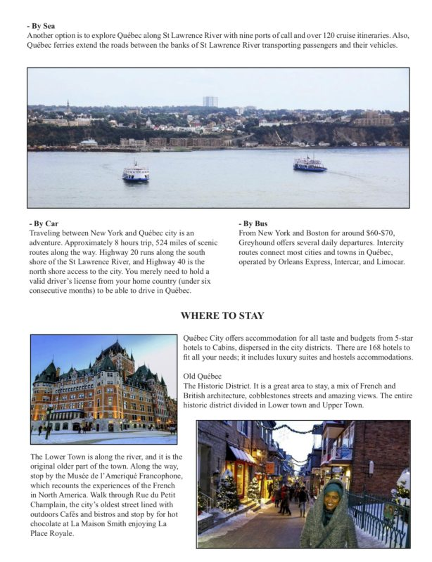 QUEBEC Where to Stay